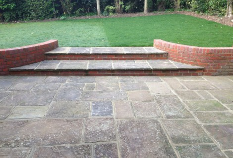 Reclaimed Yorkstone Paving & Walls